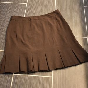 Bandolino Brown Fluted Skirt size 18